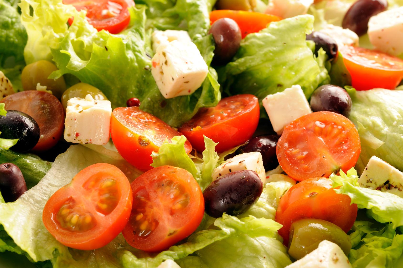 Salade, verte,compose,tomates,olives,fetas - Zen et Nature